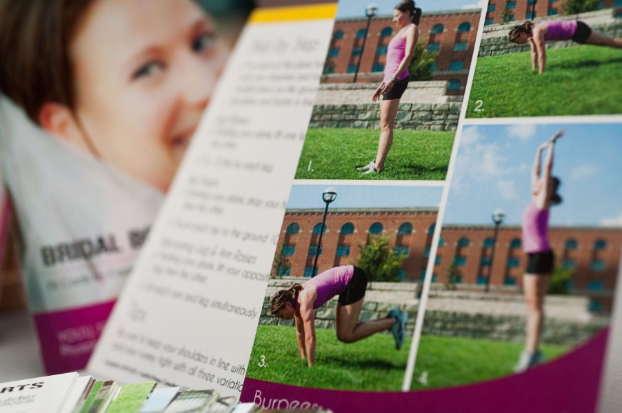Every card shows the progression of the workout move with a variety of photos.