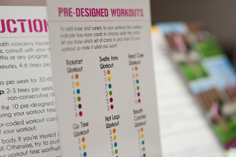 Choose from a pre-designed workout, or create your own!